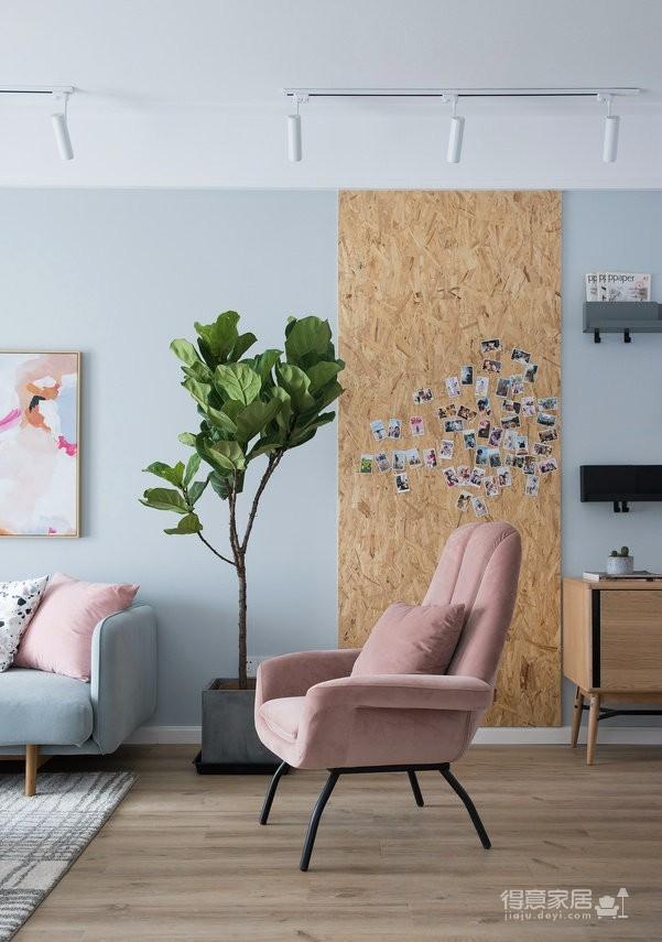 89㎡简约北欧风格家居装修设计,文艺小清新的幸福小窝图_2