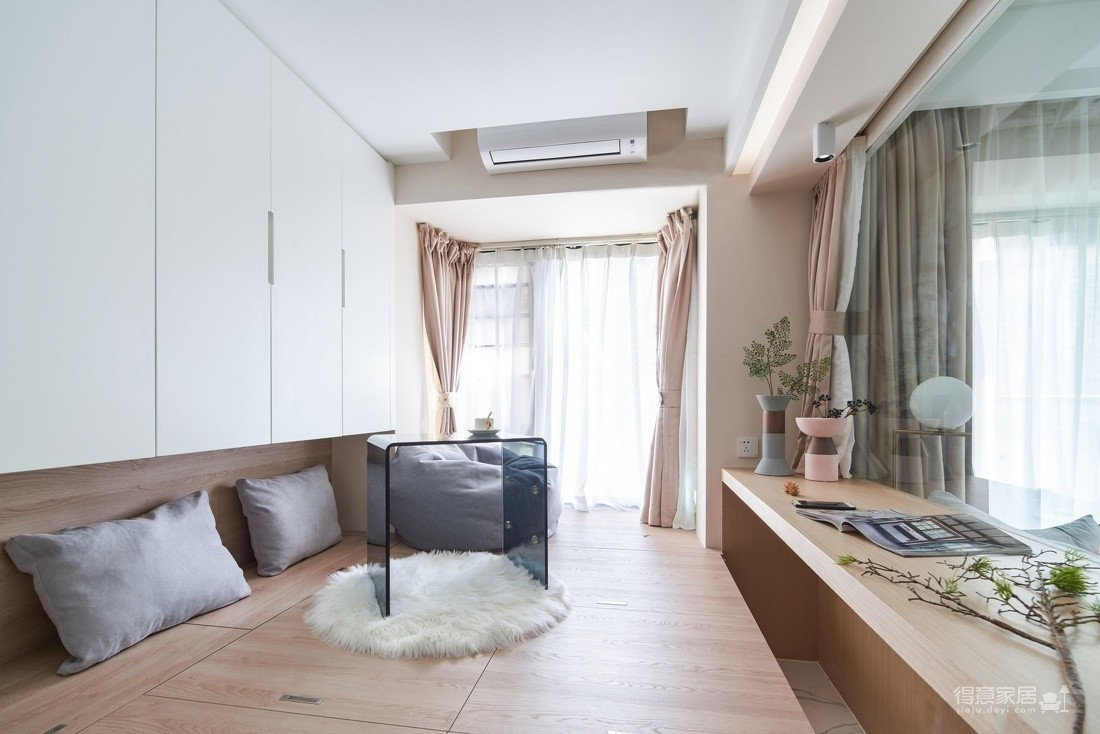 朗诗里程70平两室两厅北欧风格装饰效果图