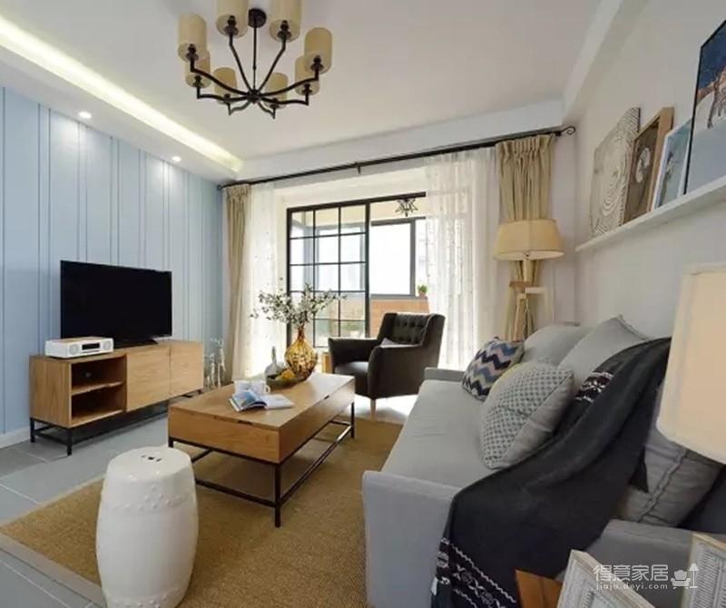 【混搭】100平三室两厅混搭美式新居图_2