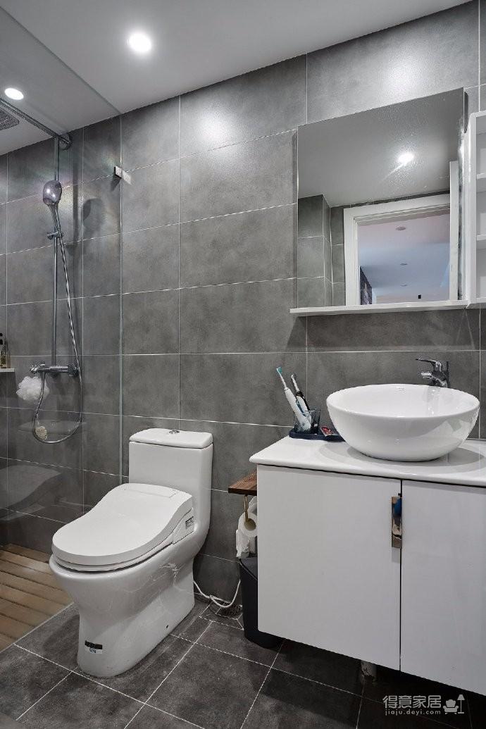 90㎡经典灰色调家居装修设计,一种莫名的酷酷时尚感! 