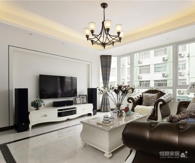 【新古典】140平三室两厅新古典风格图_1
