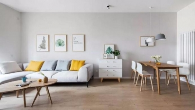 100㎡简约原木风家居装修设计案例,简洁清新的舒适感!