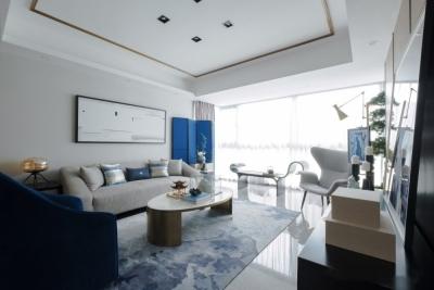 九坤新城壹号124平三室二厅新中式风格装饰效果图