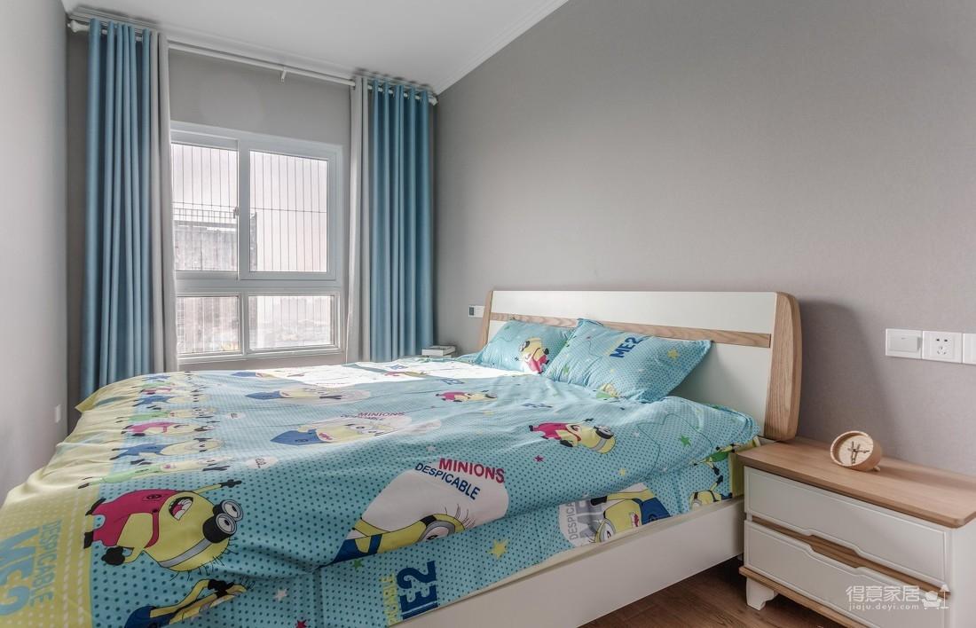 九坤新城壹号76平二室二厅简约风格装饰效果图