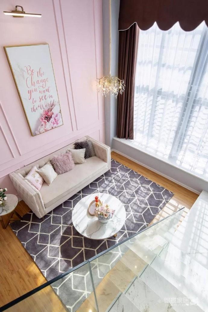 粉色50㎡现代风loft~~图_2
