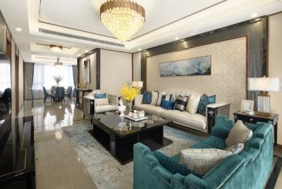 洺悦府168平四室两厅现代风格装饰效果图