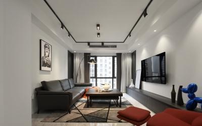 龙庭华府142平四室两厅现代风格装饰效果图