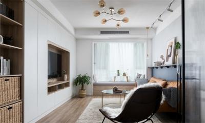 龙庭华府77平二室二厅现代风格装饰效果图