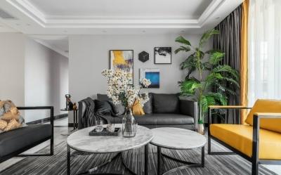 菁英城117平三室两厅现代简约风格装饰效果图