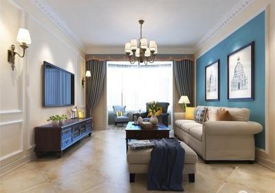 清雅简美三居室美式风格