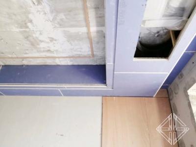 《招商公园怡府》住宅样板间 ,石膏板造型天花施工完毕