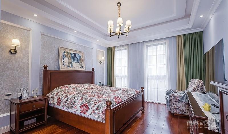 清爽优雅现代美式四居室