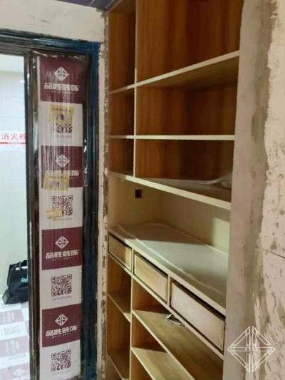 《世茂锦绣长江》住宅样板间 ,木作施工进行中