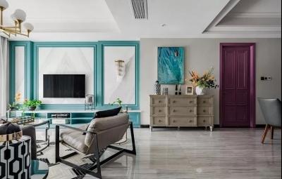 130㎡现代美式风格家居装修,典雅大气!