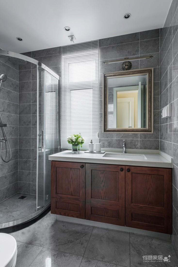 世茂龙湾140平两层五室两厅美式风格装饰效果图