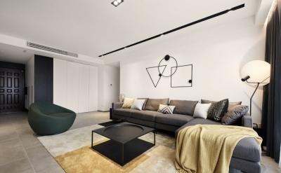世茂龙湾119平两层四室两厅简约风格装饰效果图