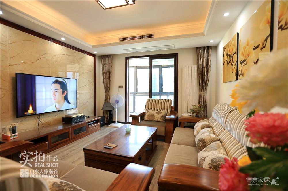 江南新天地130平三室两厅新中式风图_9