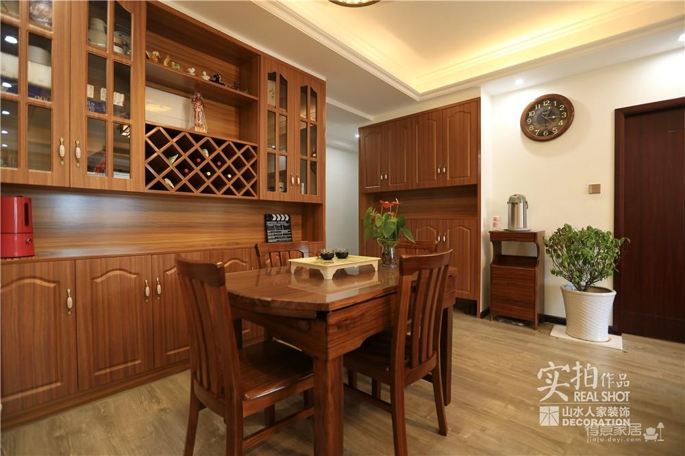 江南新天地130平三室两厅新中式风图_12
