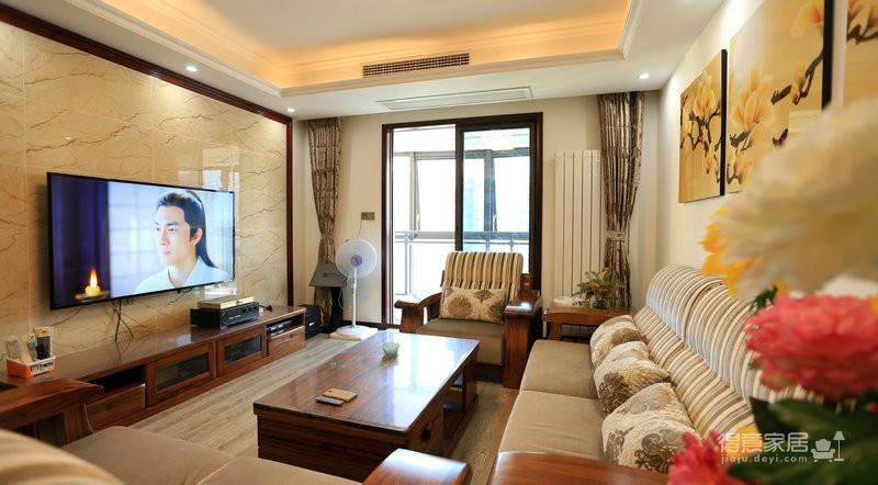 江南新天地130平三室两厅新中式风图_5