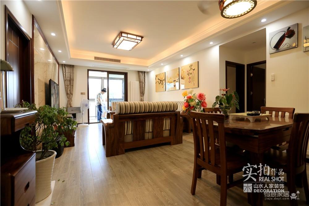江南新天地130平三室两厅新中式风图_3