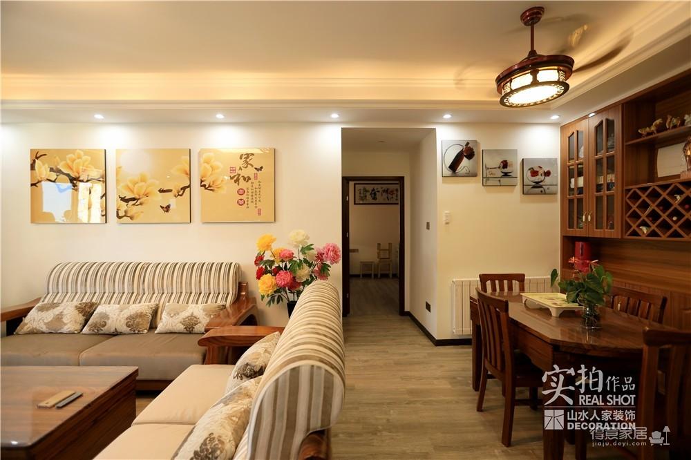 江南新天地130平三室两厅新中式风图_10