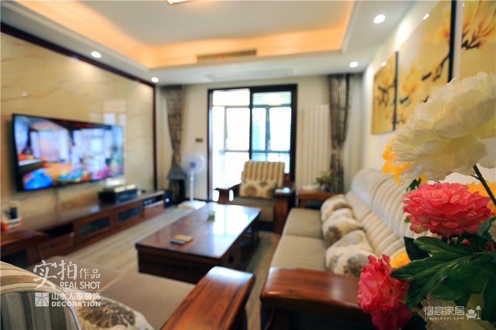 江南新天地130平三室两厅新中式风图_6
