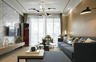 88㎡现代简约风格二居室装修设计