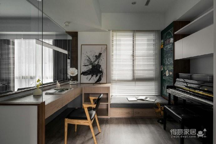 110㎡黑白灰现代简约家居装修设计