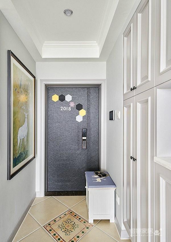 70㎡美式轻奢风二居室装修设计