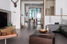 110m²混搭风三口之家,卡座餐厅实用又美观图_1