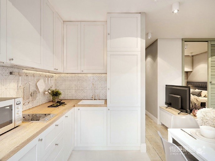 40㎡极致精简小公寓,满满的舒适感