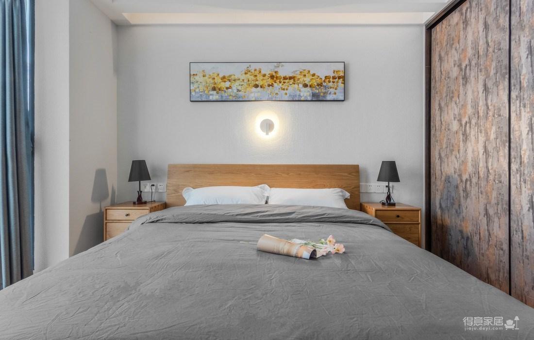 万福国际广场98平三室两厅现代简约风格装饰效果图图_5