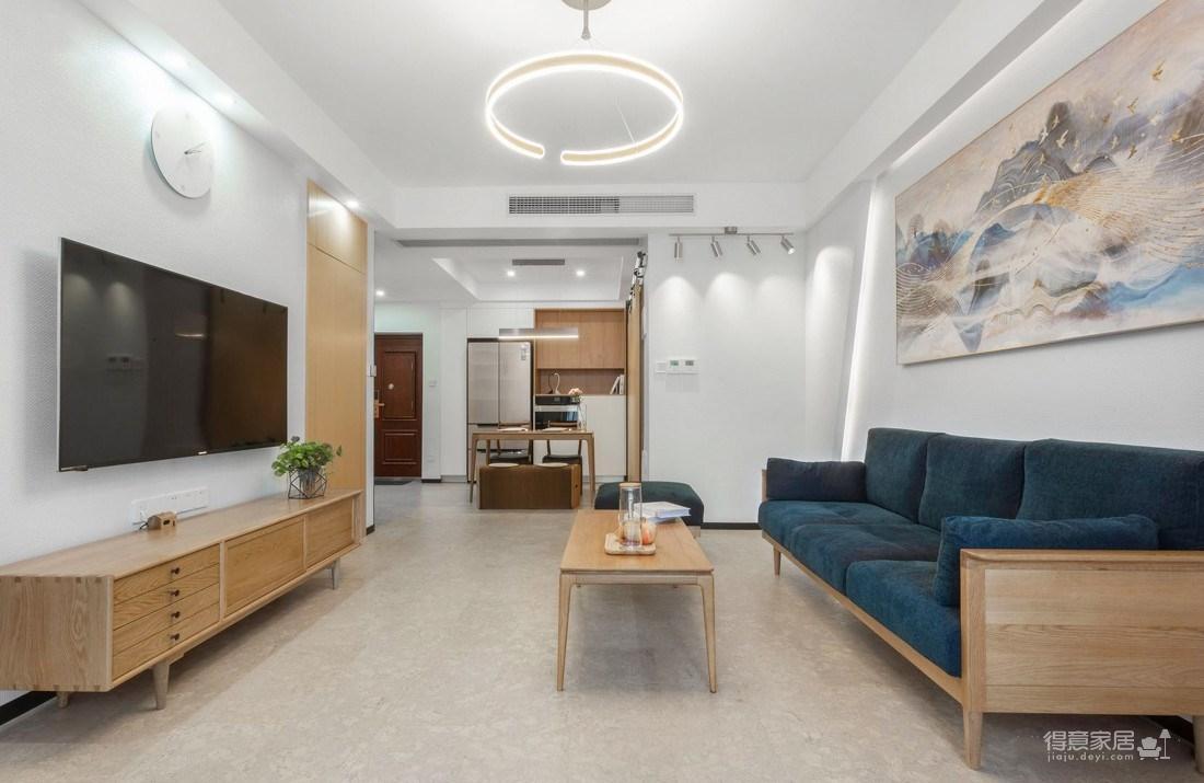 万福国际广场98平三室两厅现代简约风格装饰效果图图_1