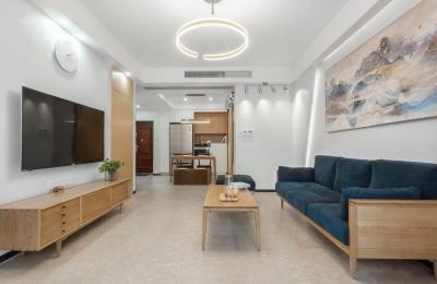 万福国际广场98平三室两厅现代简约风格装饰效果图