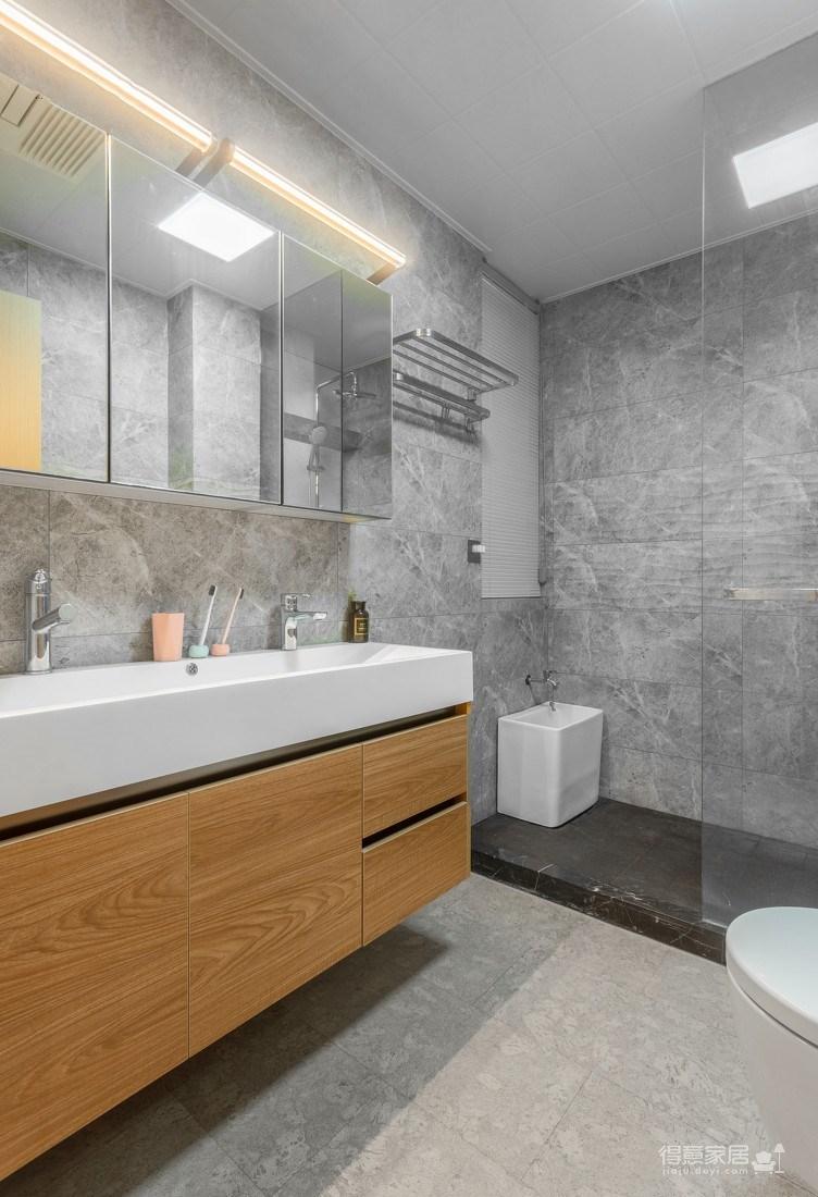 万福国际广场98平三室两厅现代简约风格装饰效果图图_9