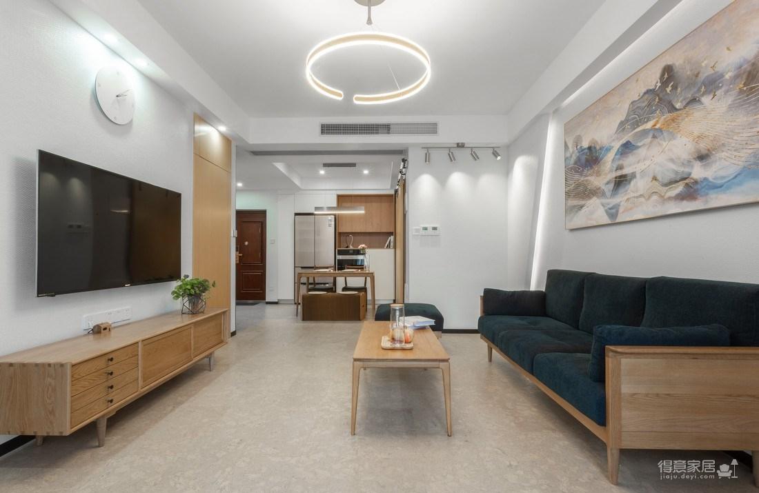 万福国际广场98平三室两厅现代简约风格装饰效果图图_2