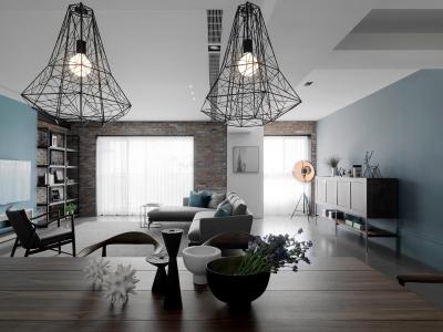 现代风格三居室案例鉴赏
