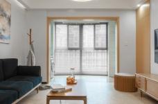 万福国际广场98平三室两厅现代简约风格装饰效果图图_3