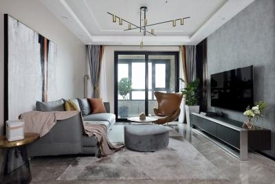 万福国际广场138平四室两厅现代简约风格装饰效果图