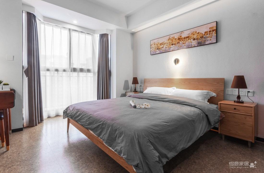 万福国际广场98平三室两厅现代简约风格装饰效果图图_4