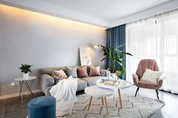 简约北欧原木风格三居室装修设计!