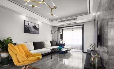 100㎡现代简约风三居室,斜切洗手台的设计真棒! 