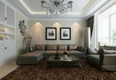 新华联青年城128平三室现代简约风格装饰效果图
