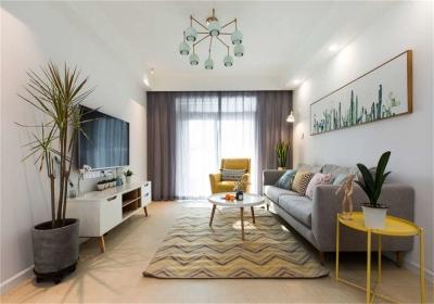 欧亚达云台118平三居室北欧风格装饰效果图