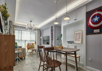 水墨江郡82平二居室北欧风格装饰效果图