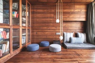 67㎡ 一室户,用水泥与木头缔造出时尚住宅