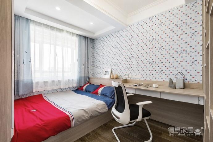 128㎡现代简约风格,原木与白色总能使居住空间一种清新自然的感觉!