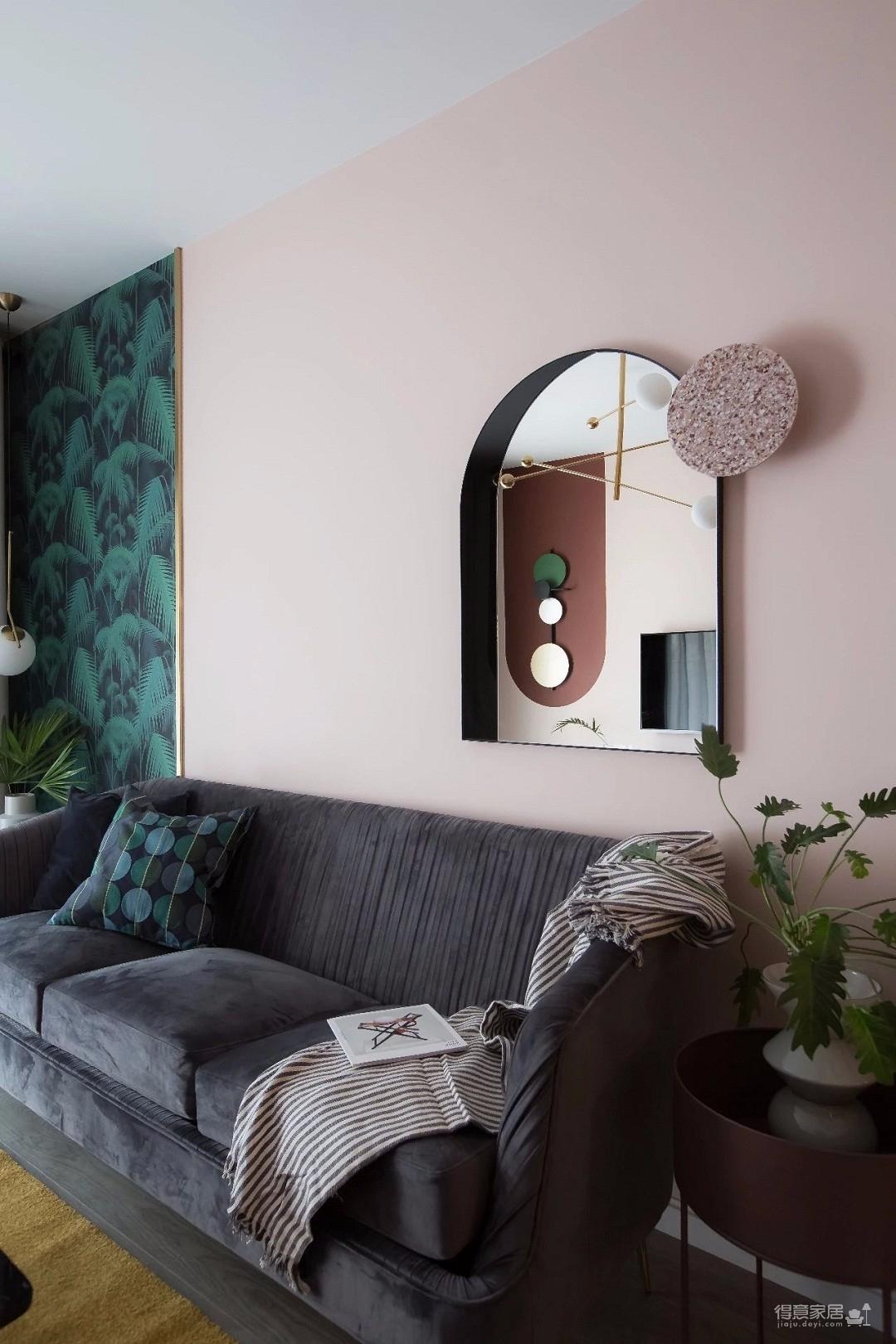 100㎡混搭风格装修,大胆的色彩搭配,打造前卫艺术家居空间 !图_5