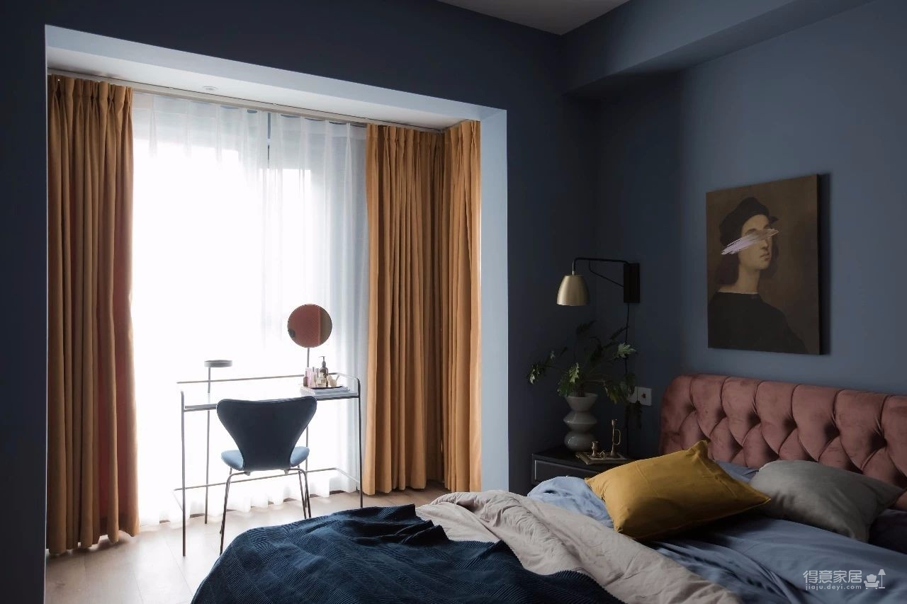 100㎡混搭风格装修,大胆的色彩搭配,打造前卫艺术家居空间 !图_11