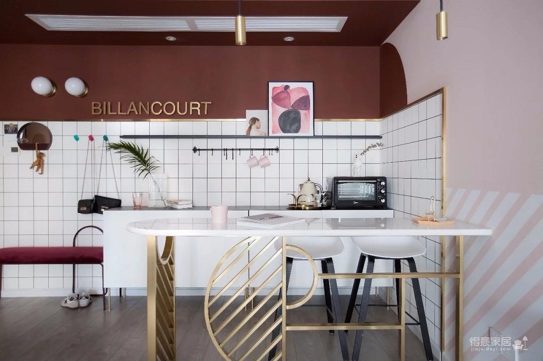 100㎡混搭风格装修,大胆的色彩搭配,打造前卫艺术家居空间 !图_7